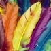 Miscellaneous Background Multi Colored Feathers iPad 2 HD Wallpaper.